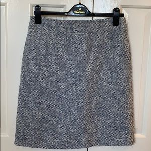 Brooks Brothers blue and white weave skirt